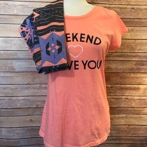 LulaRoe leggings and T-shirt bundle